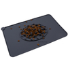 Wholesale Custom Durable Folding Silicone Pet Dog Food Feeding Mat with Slow Food Bowl