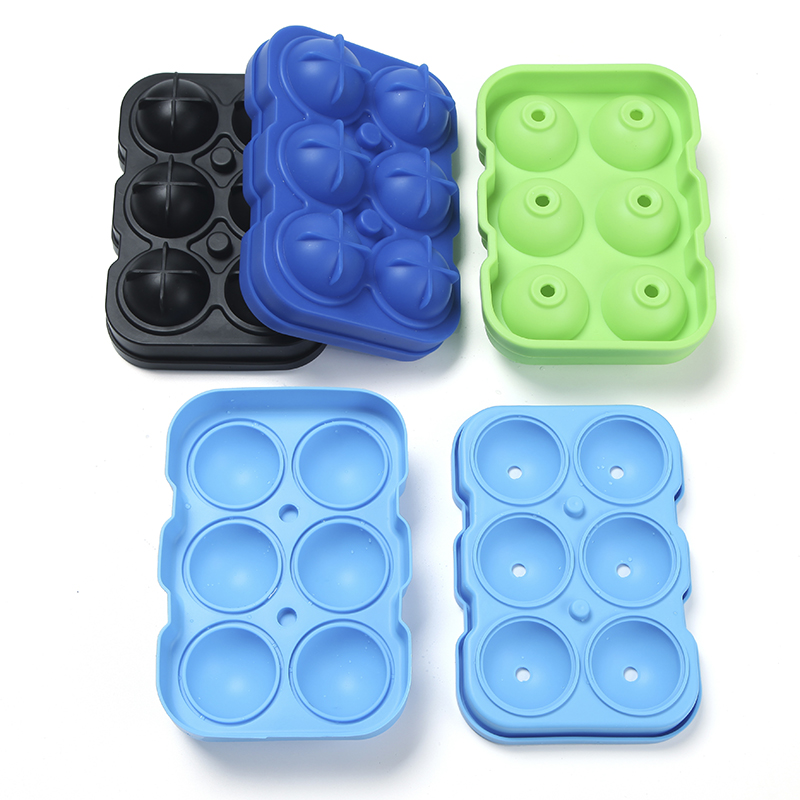 Best Selling FDA Custom Silicone Round Ice Cubes Tray Mold