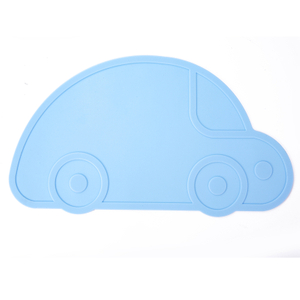 BPA Free Car Shape Silicone Baby Placemat Silicone Plates, Silicone Platemat Tableware