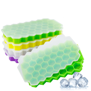 BPA Free Silicone Ice Cube Trays Silicone Mold Flexible Ice Cube Tray Honeycomb Shape Ice Cube Trays