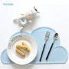 Hot Creative Colorful Silicone Cloud Insulation Mat Children Placemat Overflow Silicon Table Mat