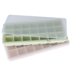 E SPRING Easy Release Silicone 21 Ice Trays with Removable Lid Stackable Durable And Dishwasher Ice Cube Molds BPA Free