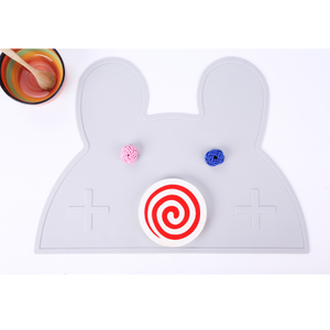 INS Style Bunny Shaped Silicone Plate Placemat ,baby Placemat Bpa Free, Silicone Plate Mat